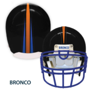 Black Helmet with Stripe and Bronco label