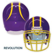 Purple Helmet with Stripe and Revolution label