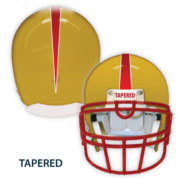 Yellow helmet stripe with tapered label