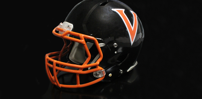 Over sized helmet decal applied to black helmet